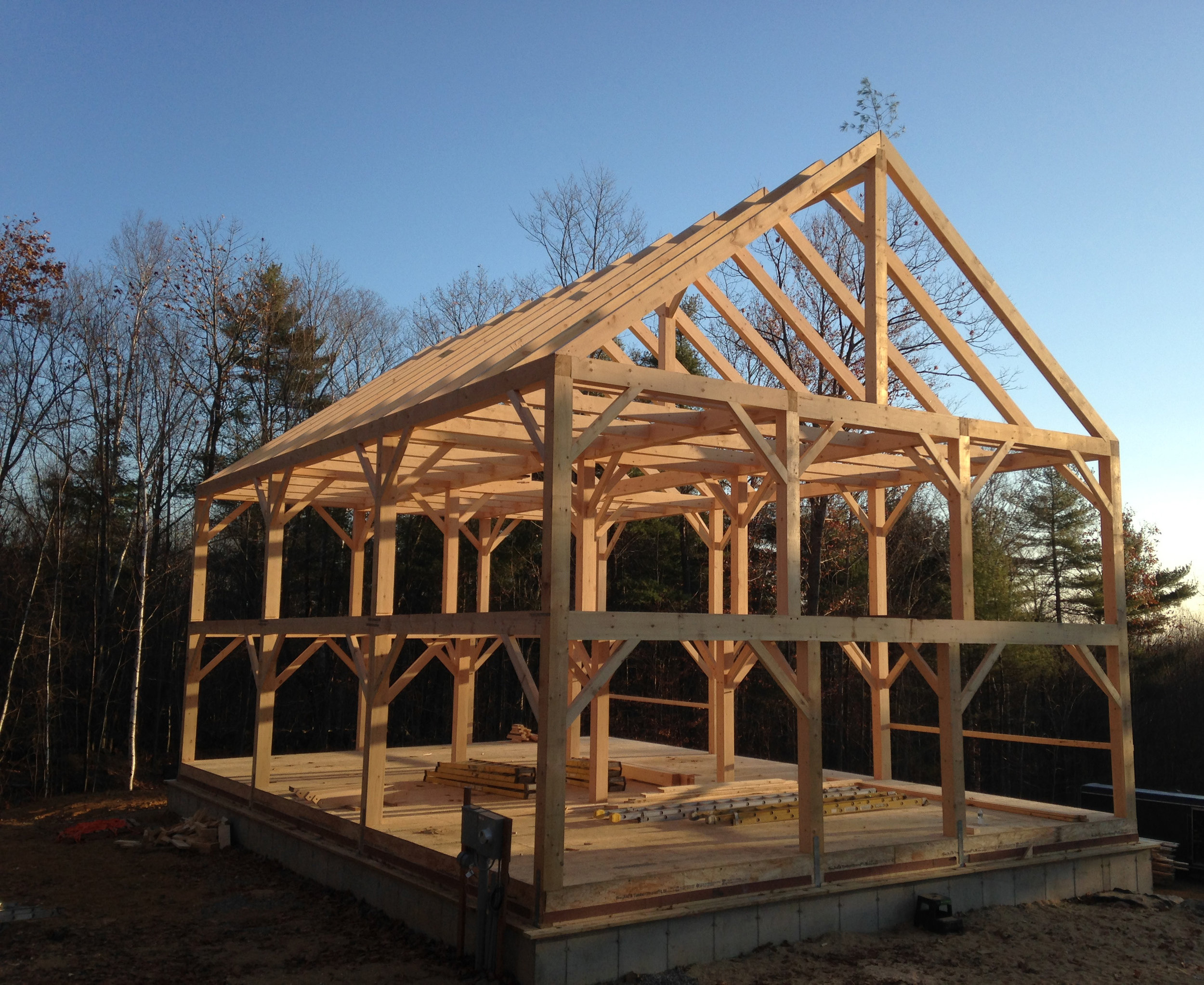 Maine Timber Frame House