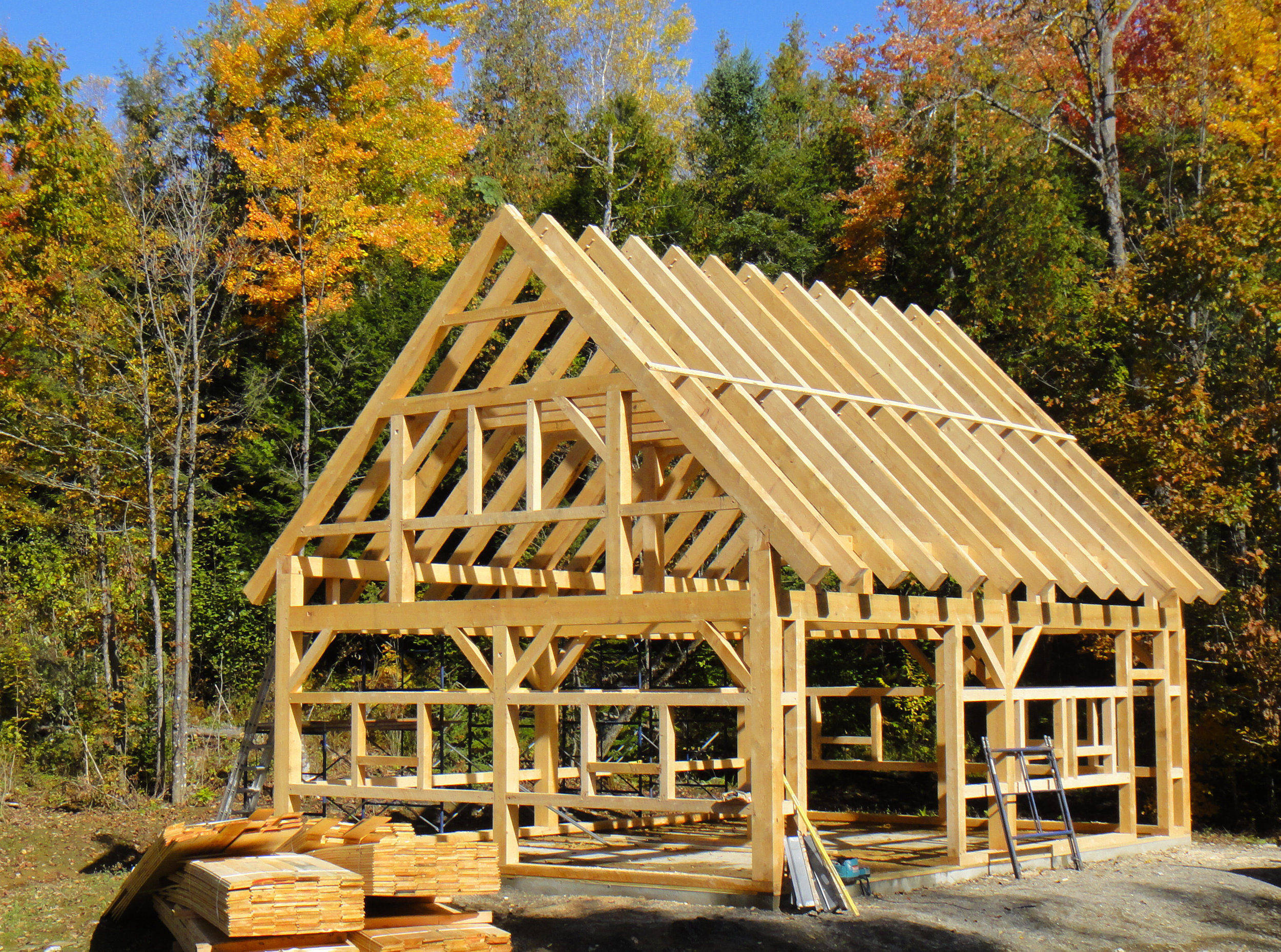 Maine Timber Frame Barn