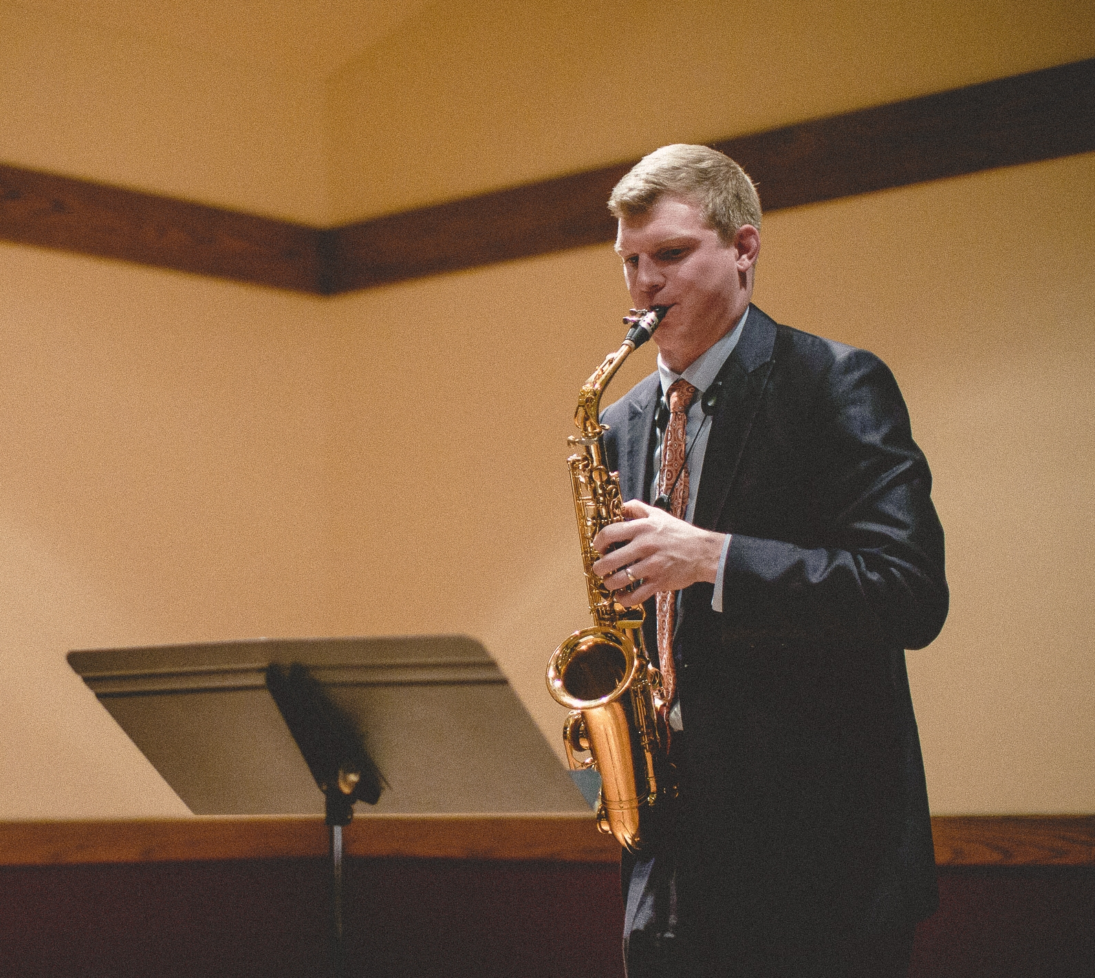 """Joel Gordon - Born in Iowa, grown in Missouri, and sprouting throughout the Midwest,Joel Gordonis a cultivating saxophonist and music educator. Most recently, Joel recorded and released a full-length album, """"Along Those Lines,"""" with the Kansas City-based Matt Cook Collective in 2017.As a saxophonist, Joel was selected as a resident of the 2014 David Liebman Saxophone Masterclass, named winner of the 2014 Missouri Music Teachers Association Woodwind Soloist Competition, and chosen as a semifinalist in the 2013 Naftzger Young Artist Competition. In 2017, Gordon recorded and released an album with the Kansas City-based jazz quintet, the Matt Cook Collective. The group went on a seven city Midwest release tour and is scheduled for a second tour on the West Coast in Summer 2018. As well, Joel will be traveling to the East Coast in Spring 2018 to perform at the 40th International Saxophone Symposium with {tres}, a chamber ensemble devoted to bringing baroque and classical era compositions into the contemporary saxophone repertoire through recording and public recitals. Joel can be heard playing jazz standards and original compositions throughout Missouri and Kansas as a leader of the groups Joel Gordon's Happy Habitat and the Joel Gordon Trio. Joel studied jazz improvisation with Tim AuBuchon and Matt Otto and classical saxophone with Randall Smith and José A. Zayas Cabán. Additional instructors include Bob Long, Neil Ostercamp, and Tim Timmons.Joel is passionate about advancing music through education. In 2015, Joel was named a Presser Foundation Scholar and was a fellow in the TruScholars Research Symposium, exploring the development of jazz education in the midwest. Joel coordinates school jazz clinics as Education Director of the Matt Cook Collective, having had performed for over 1500 midwest public school students. As well, Joel continues to develop his teaching reference"""