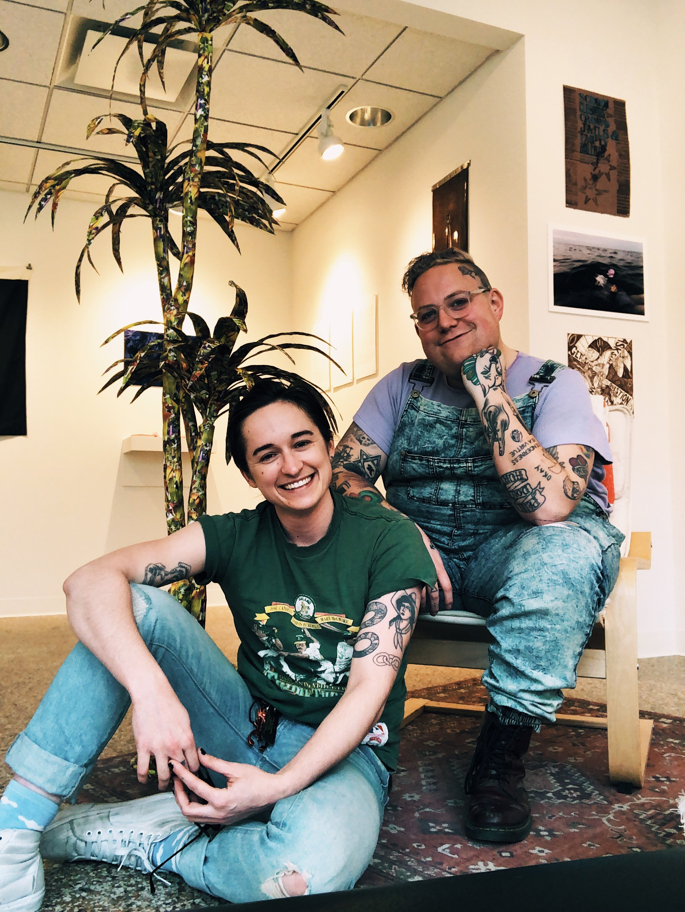A. Gentalen with collaborator and artist A. Klass, 2019