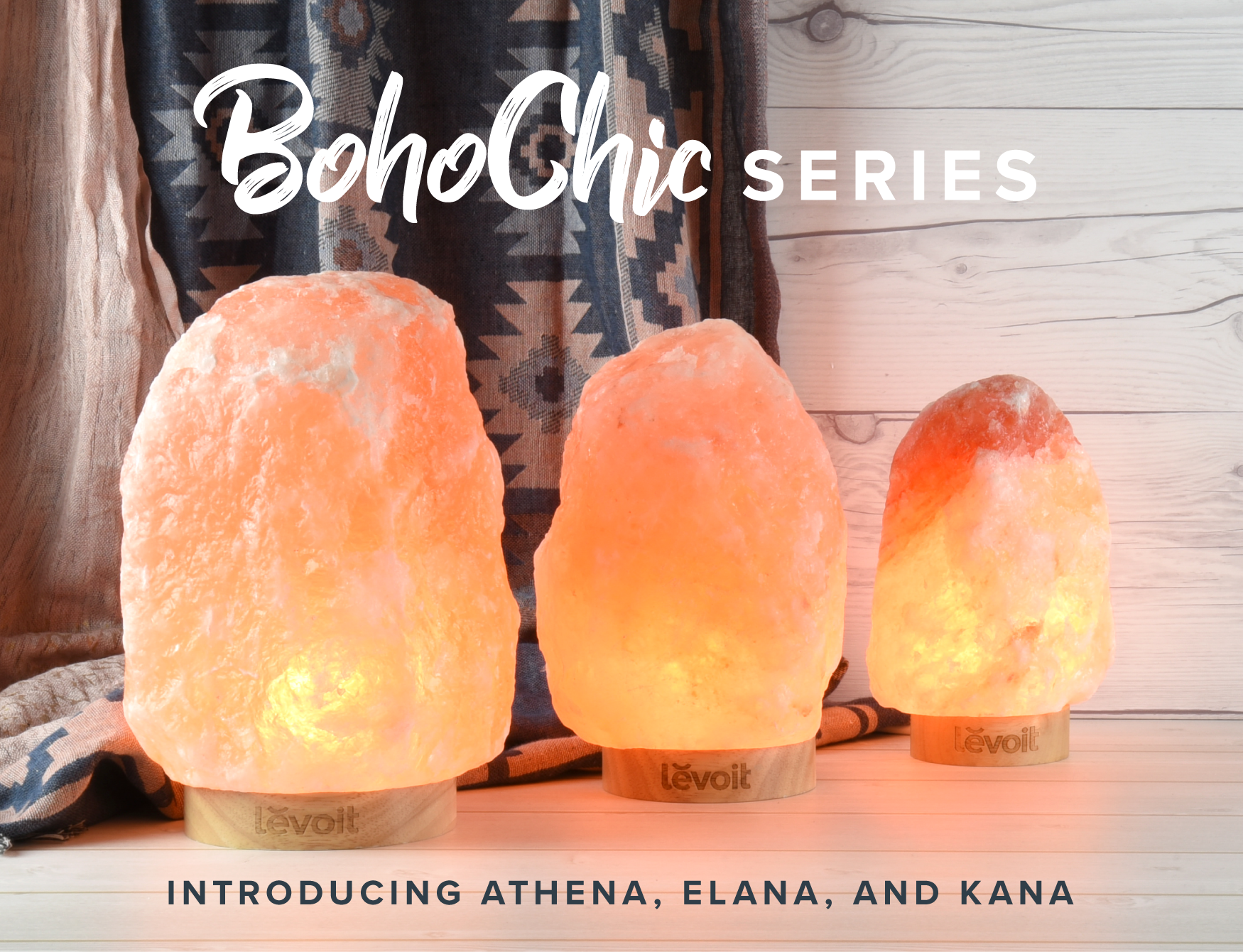 Let's Celebrate - Celebrate our newest line, the Boho Chic series, with us!Get 10% OFF the gorgeous Elana Himalayan Salt Lamp.Use code: LEVOIT10