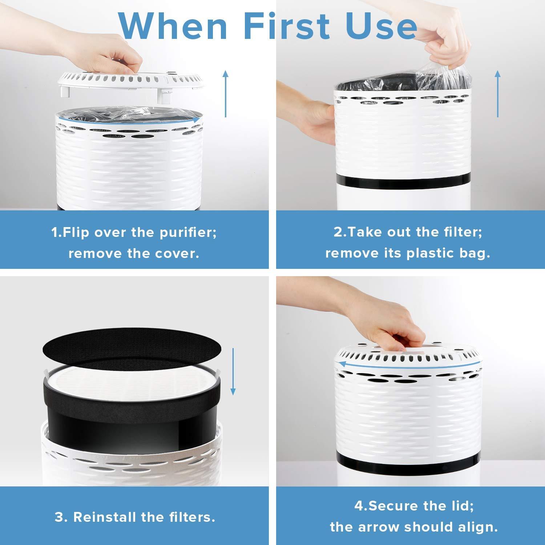 Pack de 2 filtres purificateur dair filtres /à Charbon Actif /éliminant Les odeurs et captant 99,7/% des allerg/ènes fivekim Filtre de Remplacement pour purificateur dair pour Levoit LV-H132