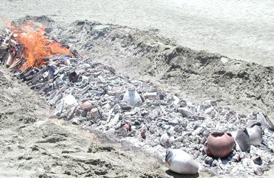 2002 Open Pit Fire on Ocean Beach in San Francisco