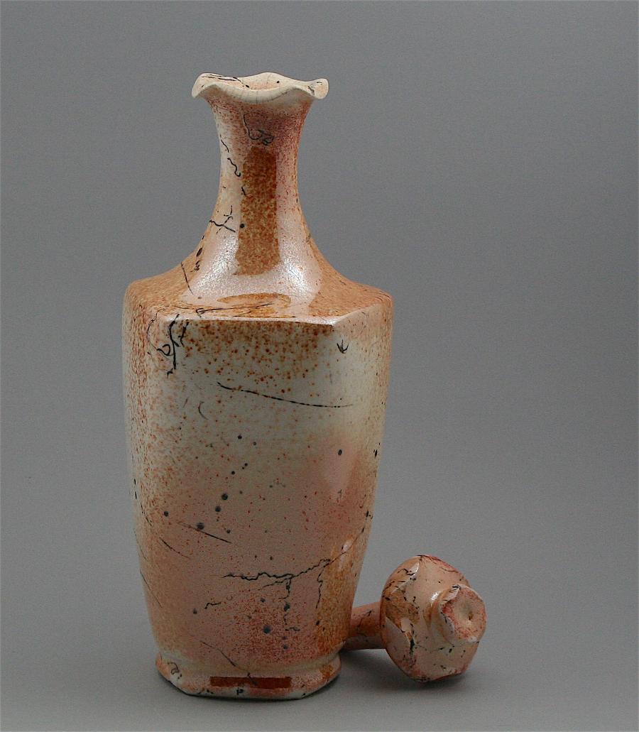 1) White-Glazed Raku Horsehair %22Anemone%22 Bottle_S.Ligtenberg.jpg