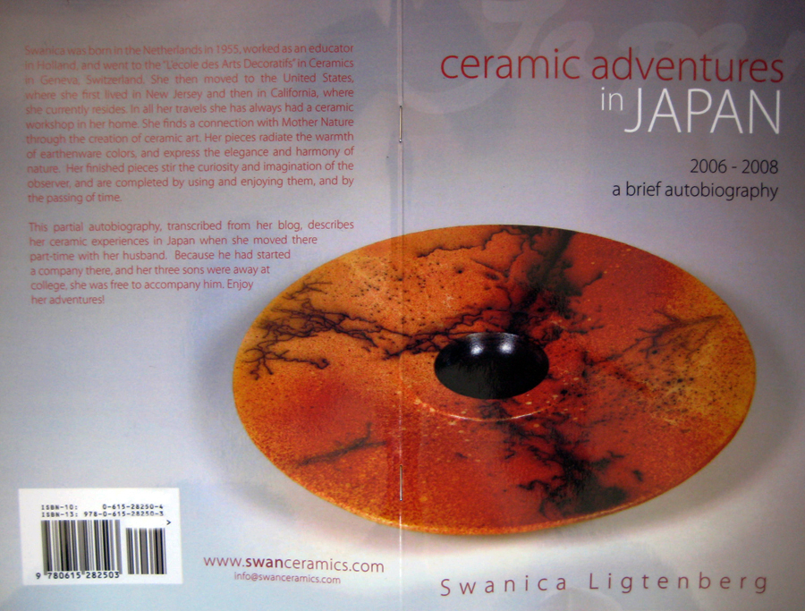 "2010 May: I wrote an autobiographic booklet about my ceramic experiences since I arrived in Japan in 2006 till 2008: ""Ceramic adventures in Japan""."