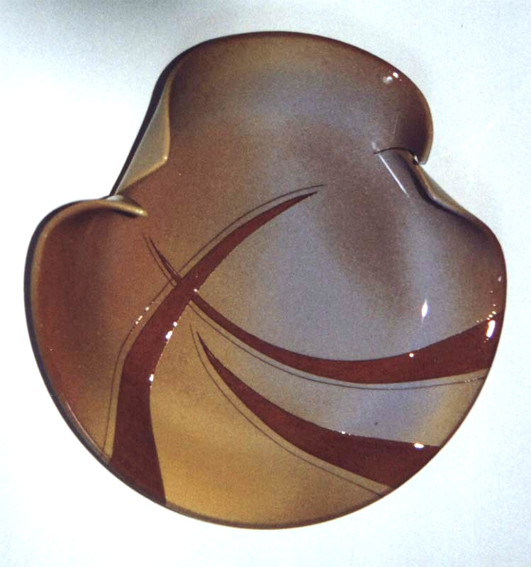 1996 Engraved transformed slipware bowl