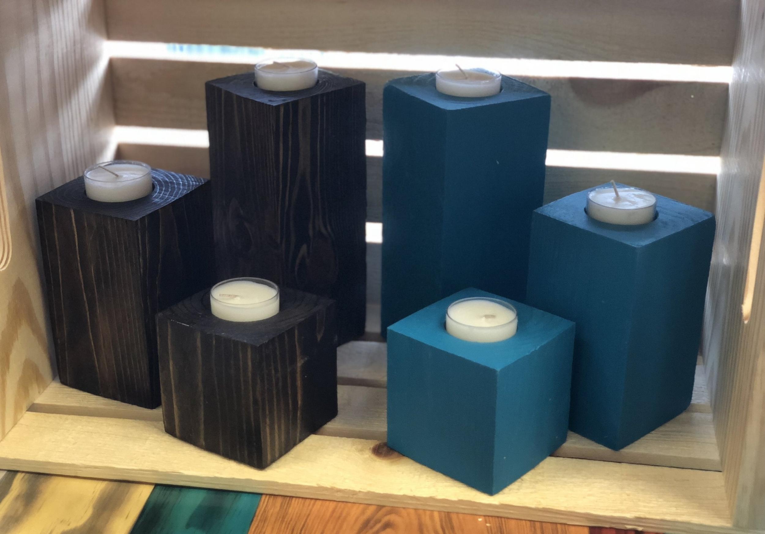 Single tea light holders in set of 3's