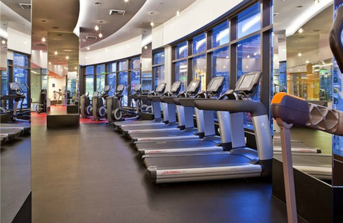 Fitness Center  The state-of-the art fitness center offers two resistance lap pools, professional strength and cardio equipment, and yoga and Pilate's studio with on-site instruction.