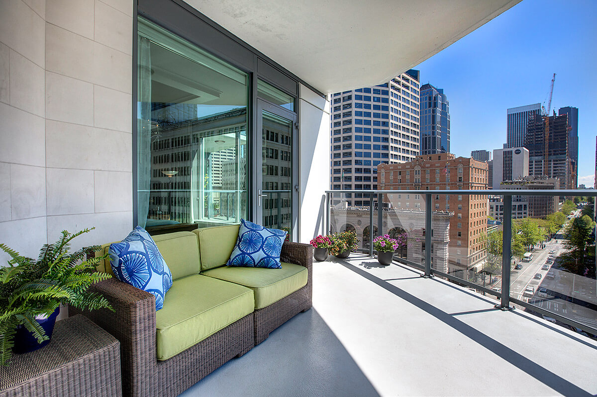 Balcony Seating | Luxury Condo For Sale | Escala By Olga | Seattle WA.jpg