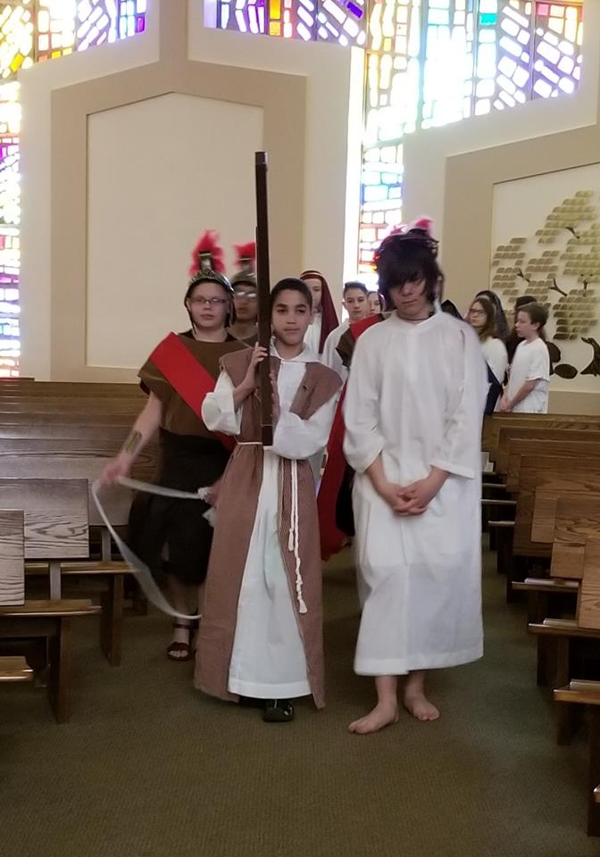 THE LIVING STATIONS OF THE CROSS - PERFORMED BY OUR 7TH & 8TH GRADE STUDENTS - APRIL 19, 2019
