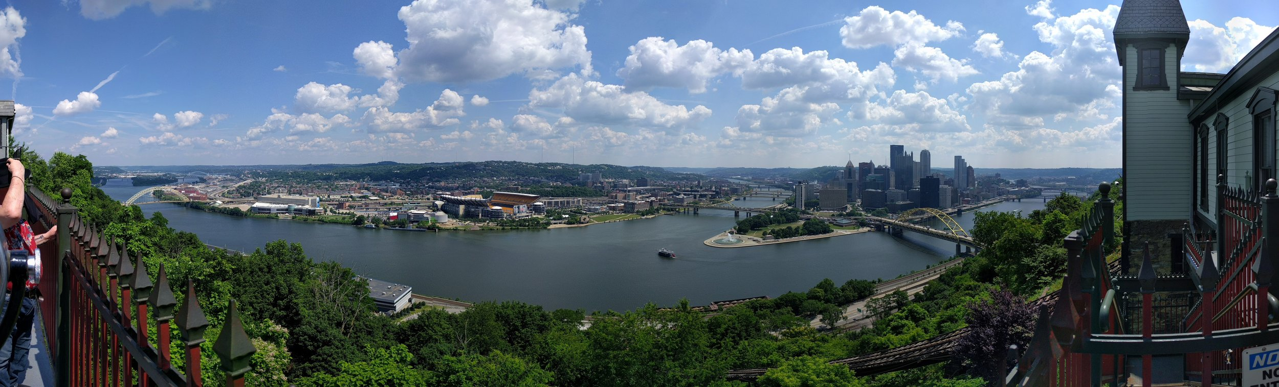 This is what panoramas are for. Dang, Pittsburgh.