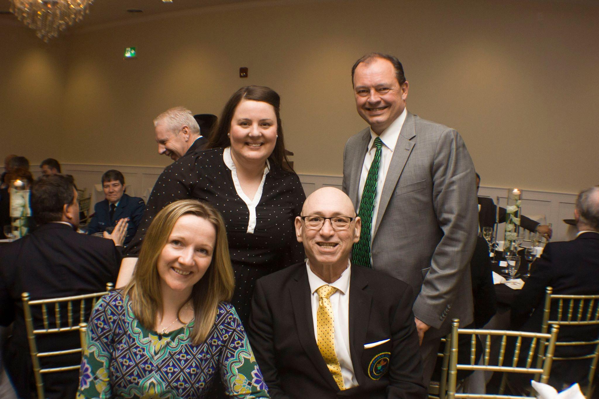 LIP Coord.-Meg Ramore, North Bay Mayor Al McDonald, Callander Mayor Hec Lavigne, & NBDMC E.D.-Deborah Robertson