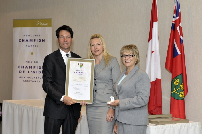 Ministry of Citizenship and Immigration's Newcomer Champion Award