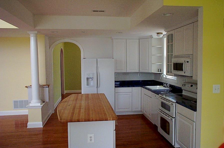 Granite and butcher block kitchen