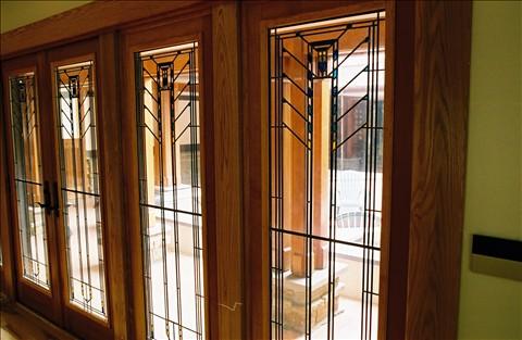 Frank Lloyd Wright style windows