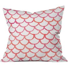 Scalloppy Outdoor Throw Pillow