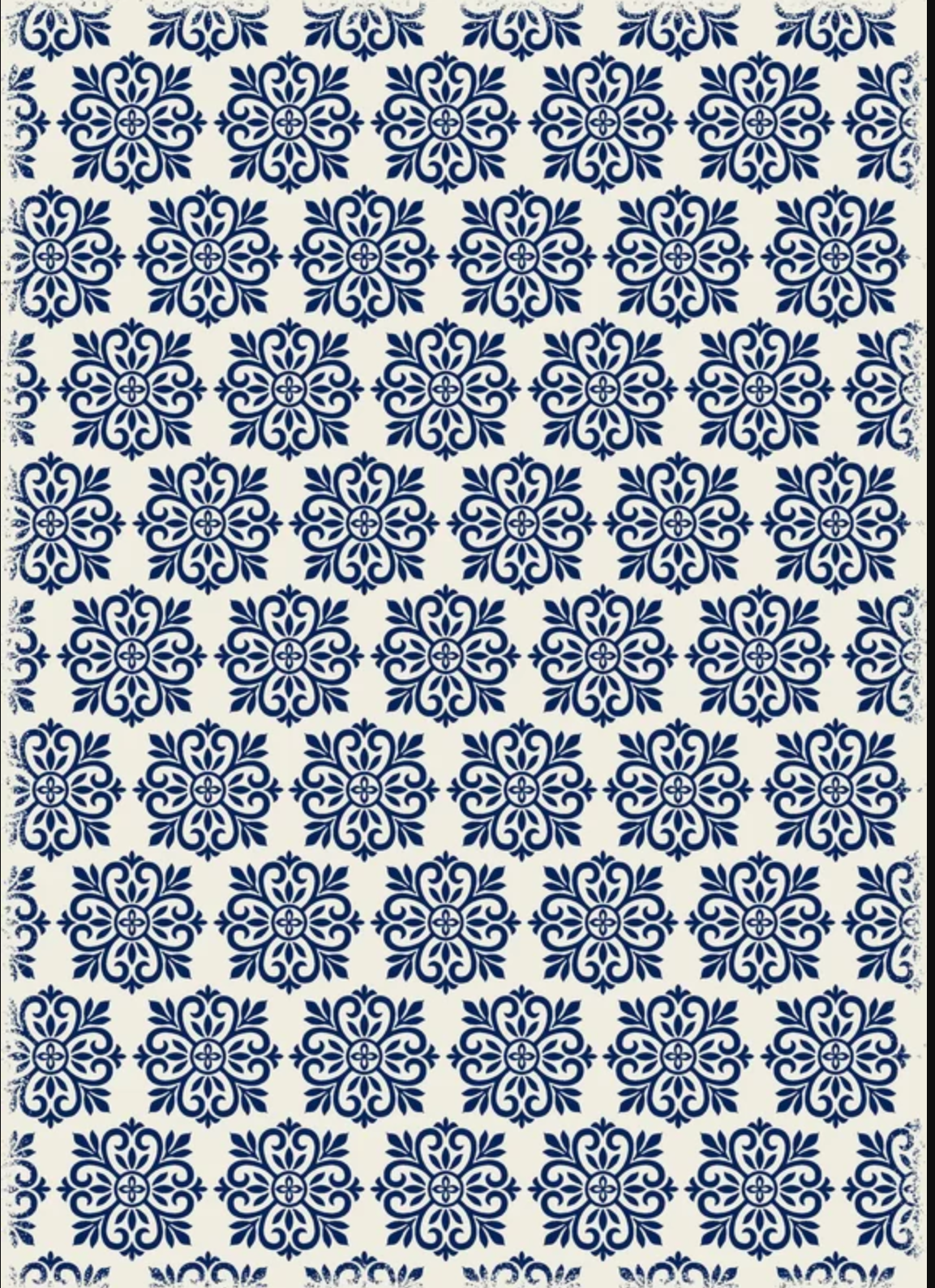 Classen Modern European Design Blue/White Indoor/Outdoor Area Rug