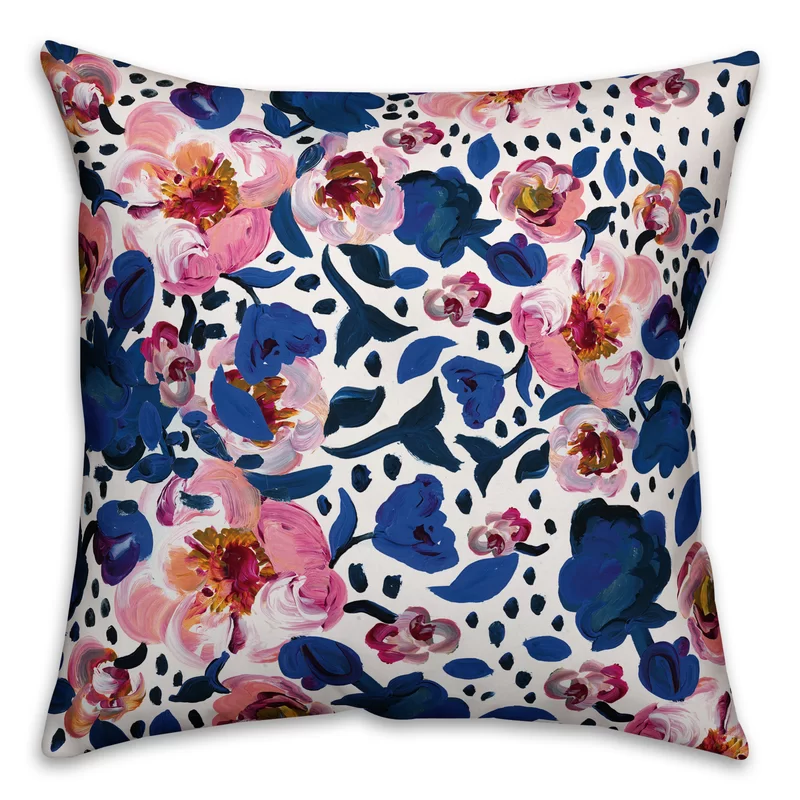 Donata Floral Outdoor Throw Pillow