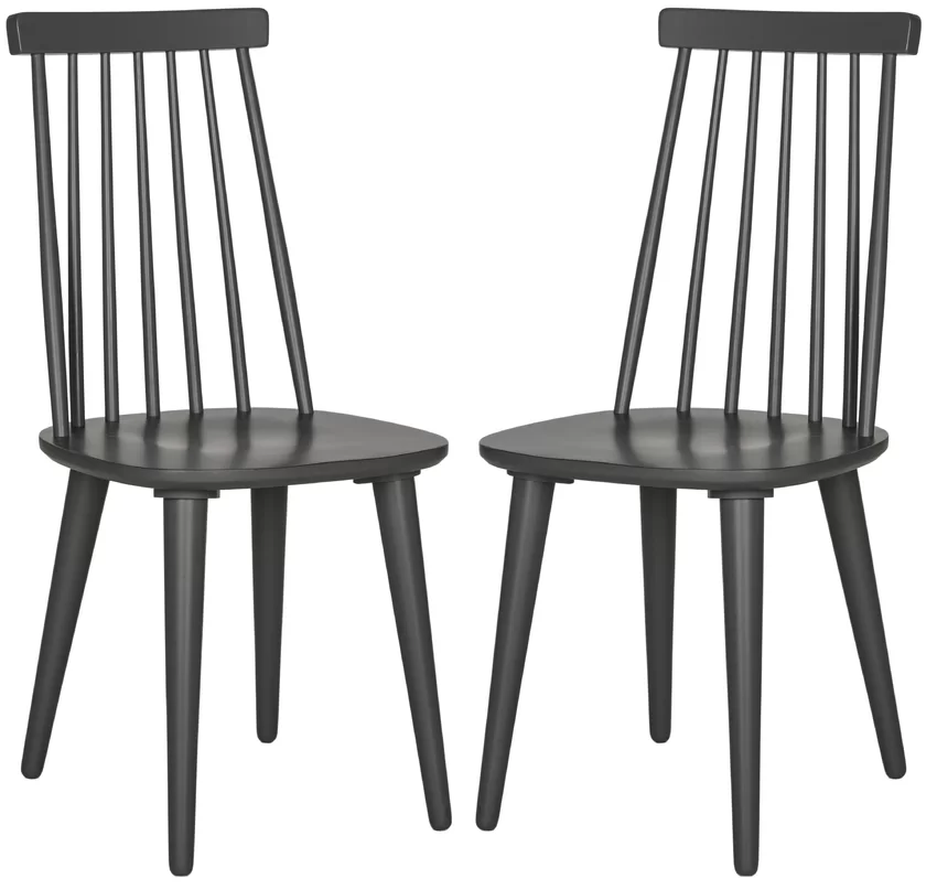 Set of 2 Gray/Blue Clarence Side Chairs