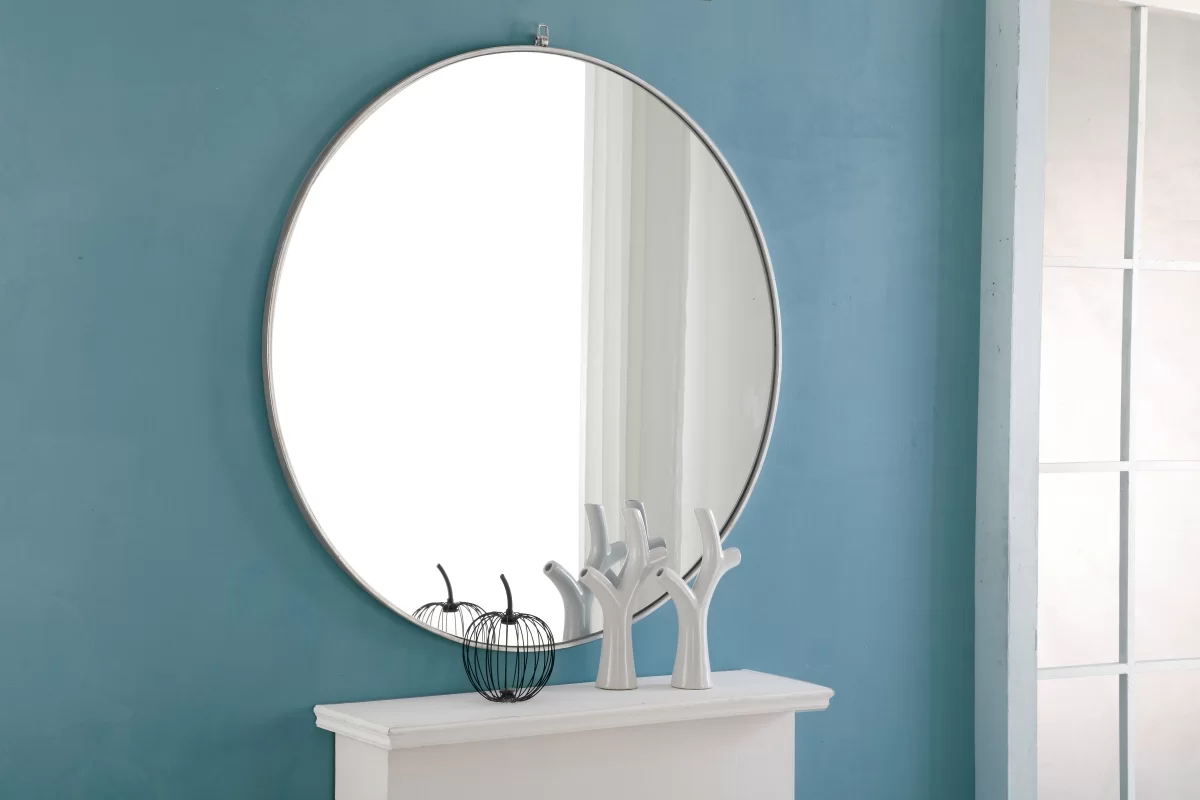 Barton Round Mirror from Wayfair