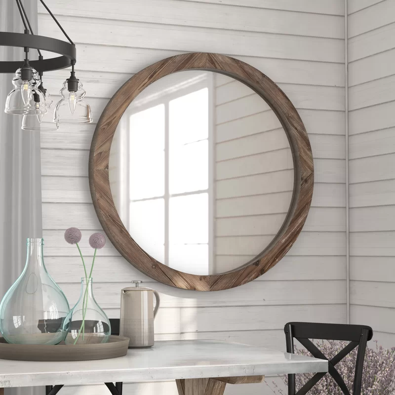 Booker Wood Mirror from Wayfair
