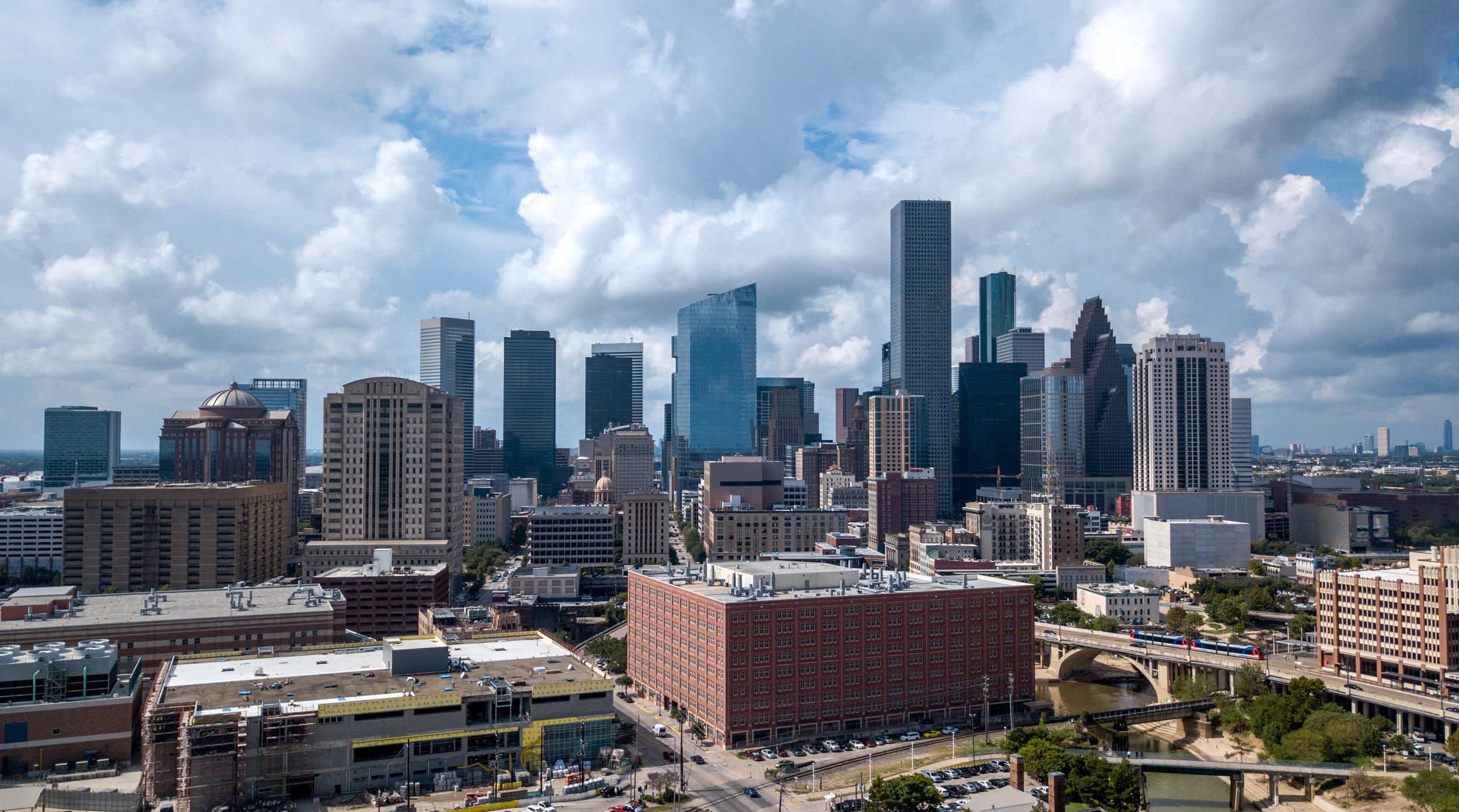 Houston Skyline by Drone