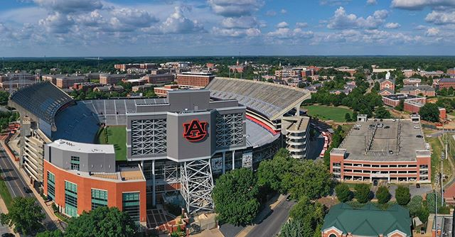 I love getting to see big football schools, and @auburnu is no exception.  Beautiful stadium. . . . . #collegefootball #droneinspections #dronestagram #dji #mavic2pro #sec #tylerdroneservices #quadaxis #roadlife #etx #tylertx #tyler #traveldrone