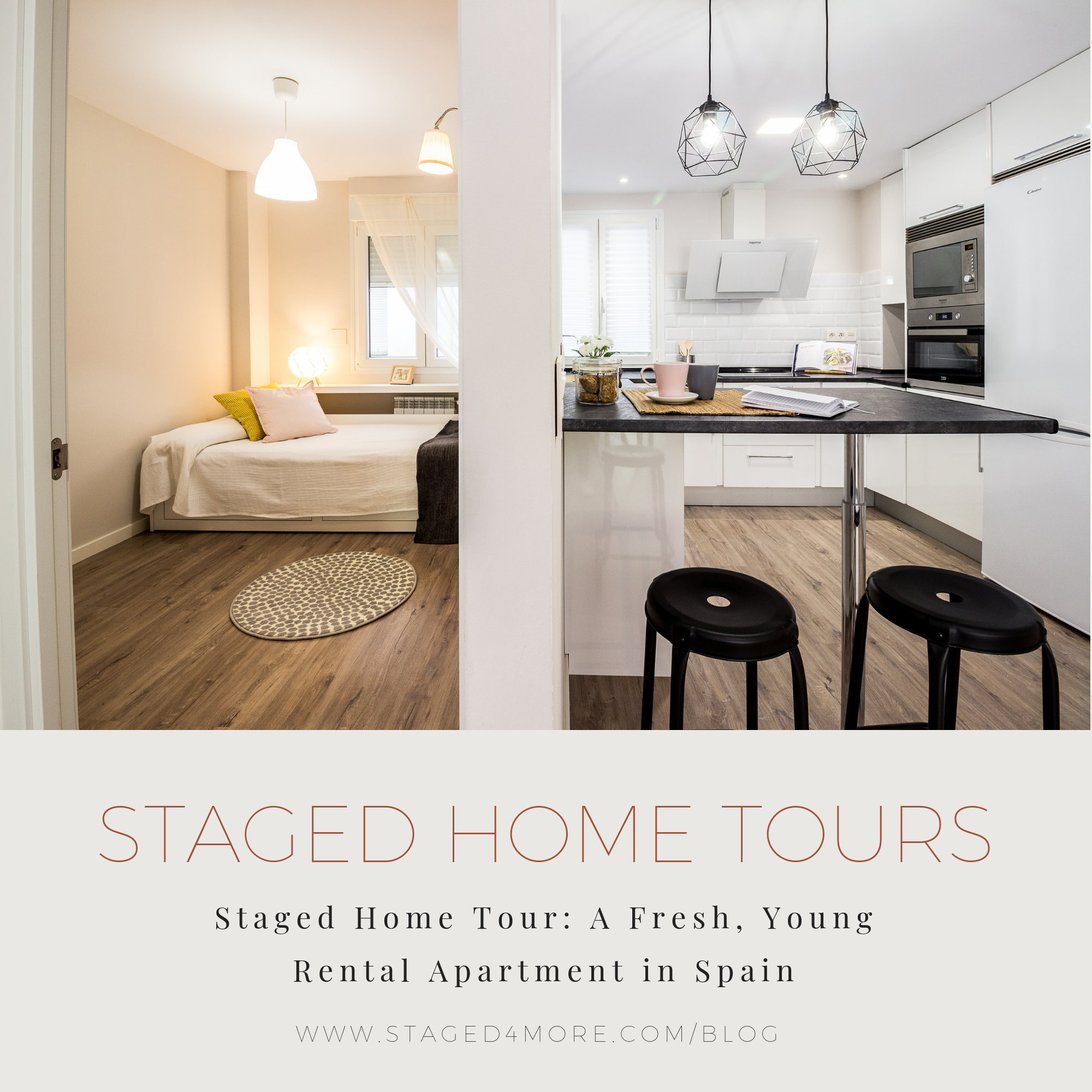 Staged4more Staged Home Tour A Young and Fresh Rental Apartment in Spain