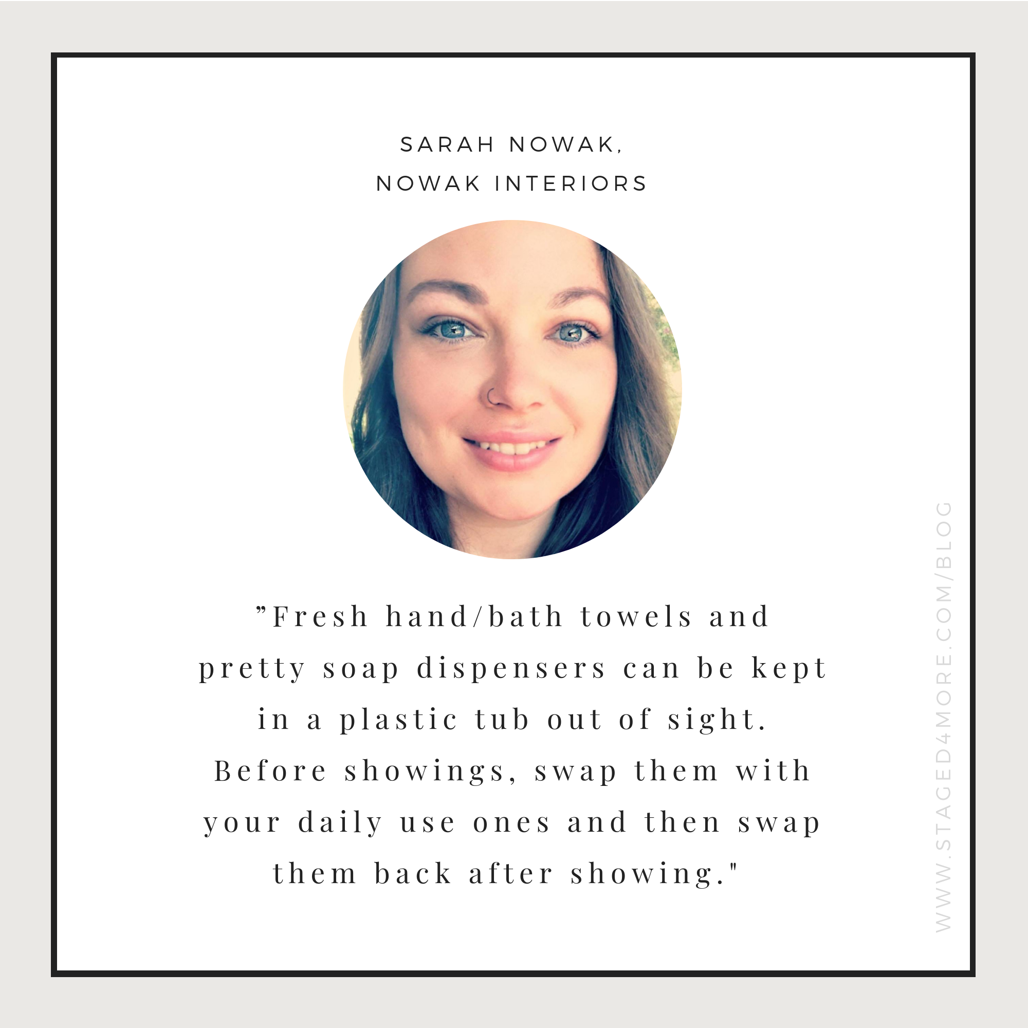 How to live in a staged home. Expert tips from Sarah Nowak of Nowak Interiors. Home staging blog by Staged4more School of Home Staging