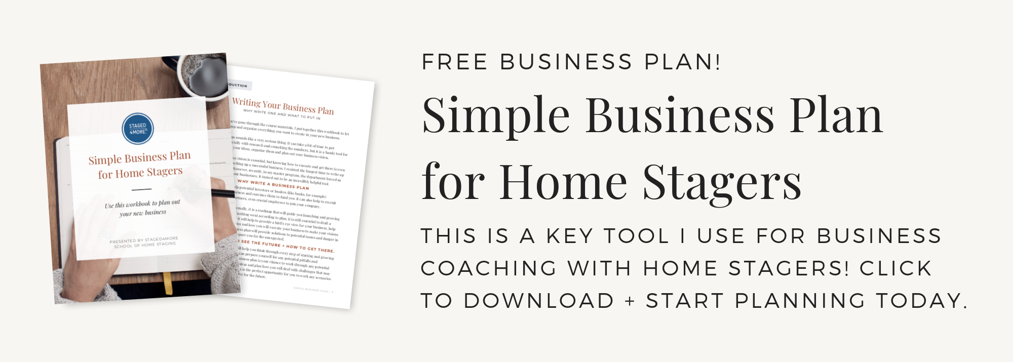 Free Simple Business Plan for Home Stagers. Created by Staged4more School of Home Staging. Check out our blog & podcast for more home staging tips.