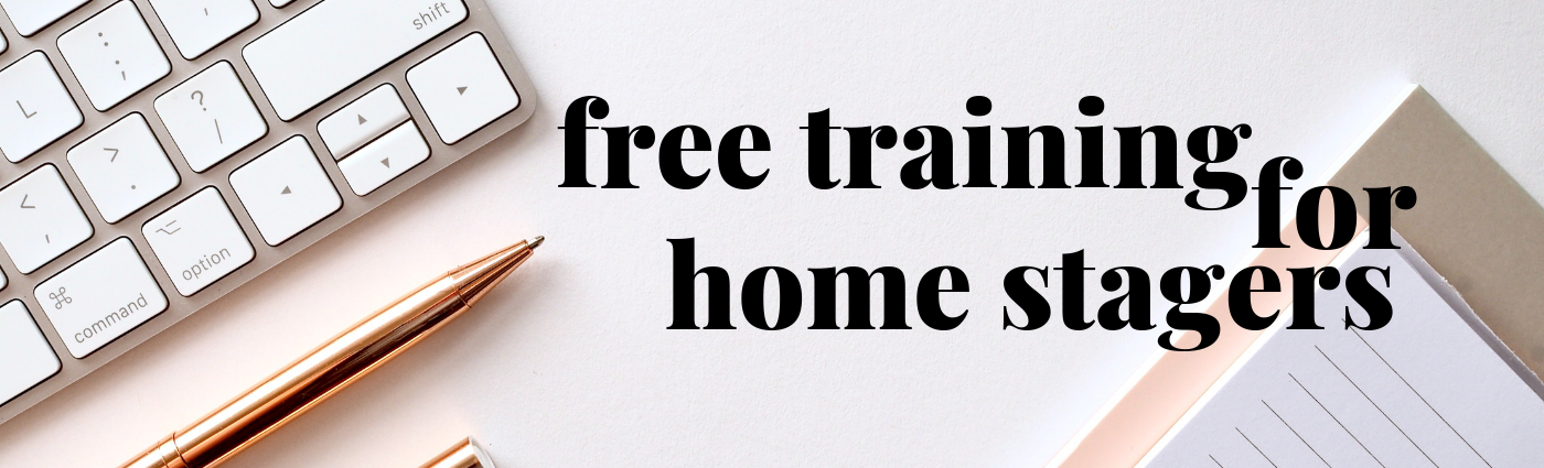 Free business training for home stagers presented by Staged4more School of Home Staging