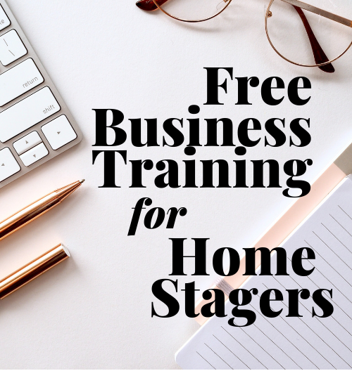 Free business training for home stagers by Staged4more School of Home Staging