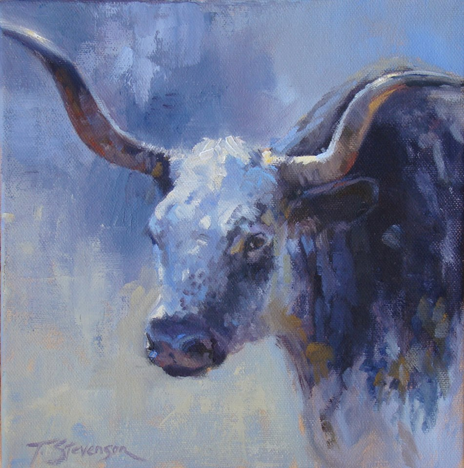 """Longhorn Blue"" by Trish Stevenson, Savage, MT, just earned a spot at a show in Great Falls."