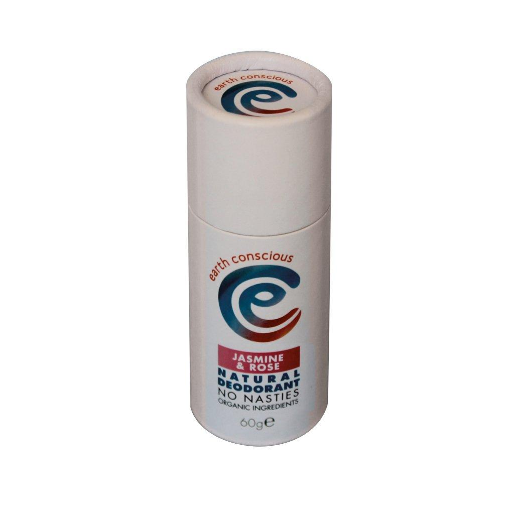Earth Conscious Natural Deodorant Stick - Jasmine & Rose
