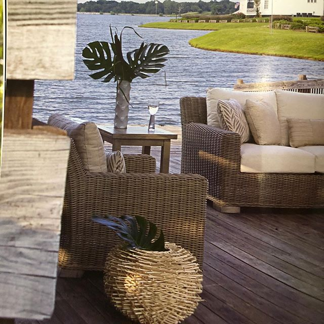 What is everyone doing this long weekend? I just previewed a collection of gorgeous patio furniture that has me in the mood for relaxing and entertaining. Who's with me?? #outdoorliving