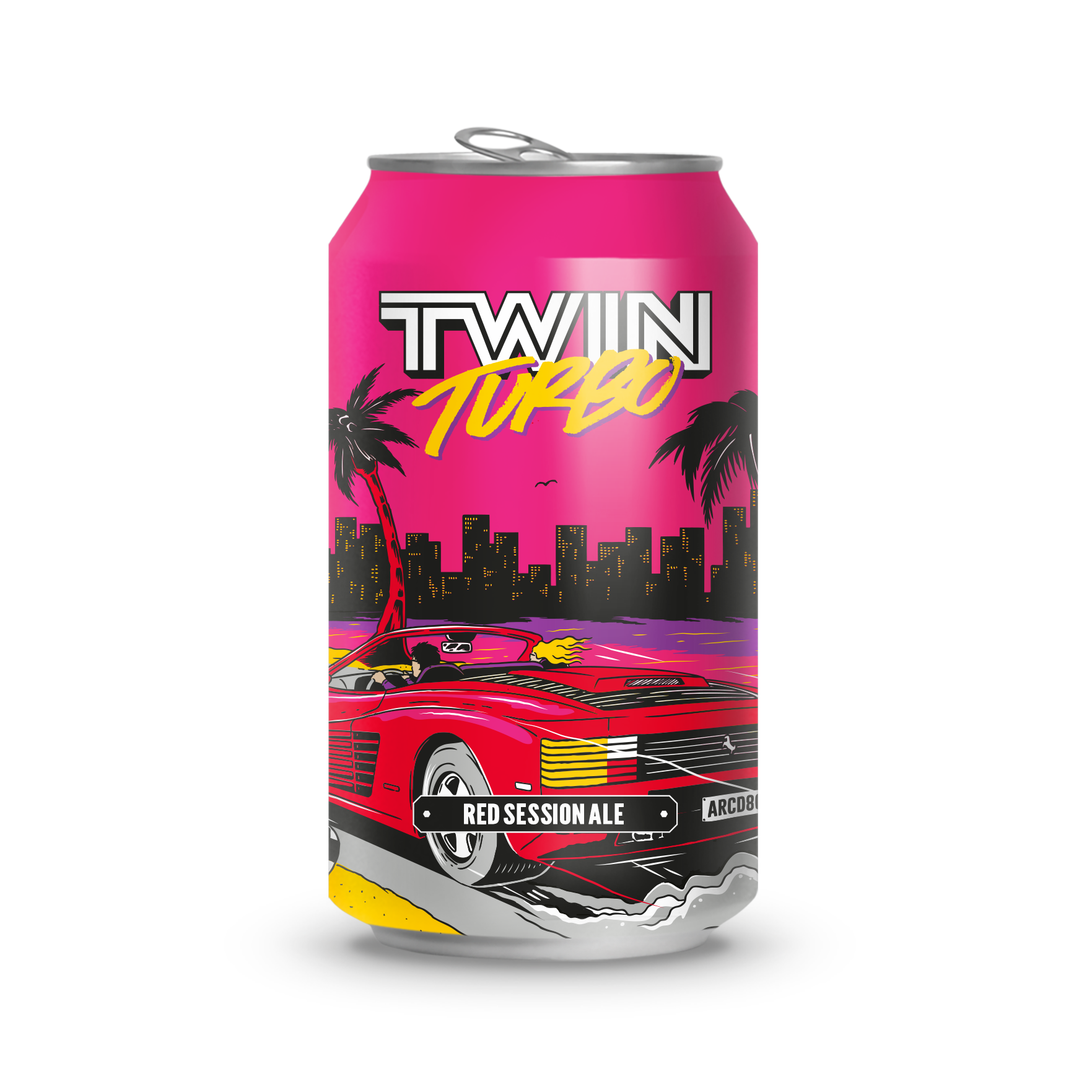 TWIN TURBORED SESSION ALE - A modern day twist of a vintage red ale. This session ale boasts big flavours of sweet caramel, laden with earthy, fruity, notes of hoppy marmalade.Twin Turbo Session Ale got its head-start from Outrun, everyone's favourite video-game of the 80's!The best part is we deliver to your door with the help of our friends, 10 Devonshire Place.Ingredients:Water, Barley, Hops, Yeast.Allergen warnings are in bold.Hops: Amarillo and Chinook 4.1% ABV / 1.5 UK UNITS