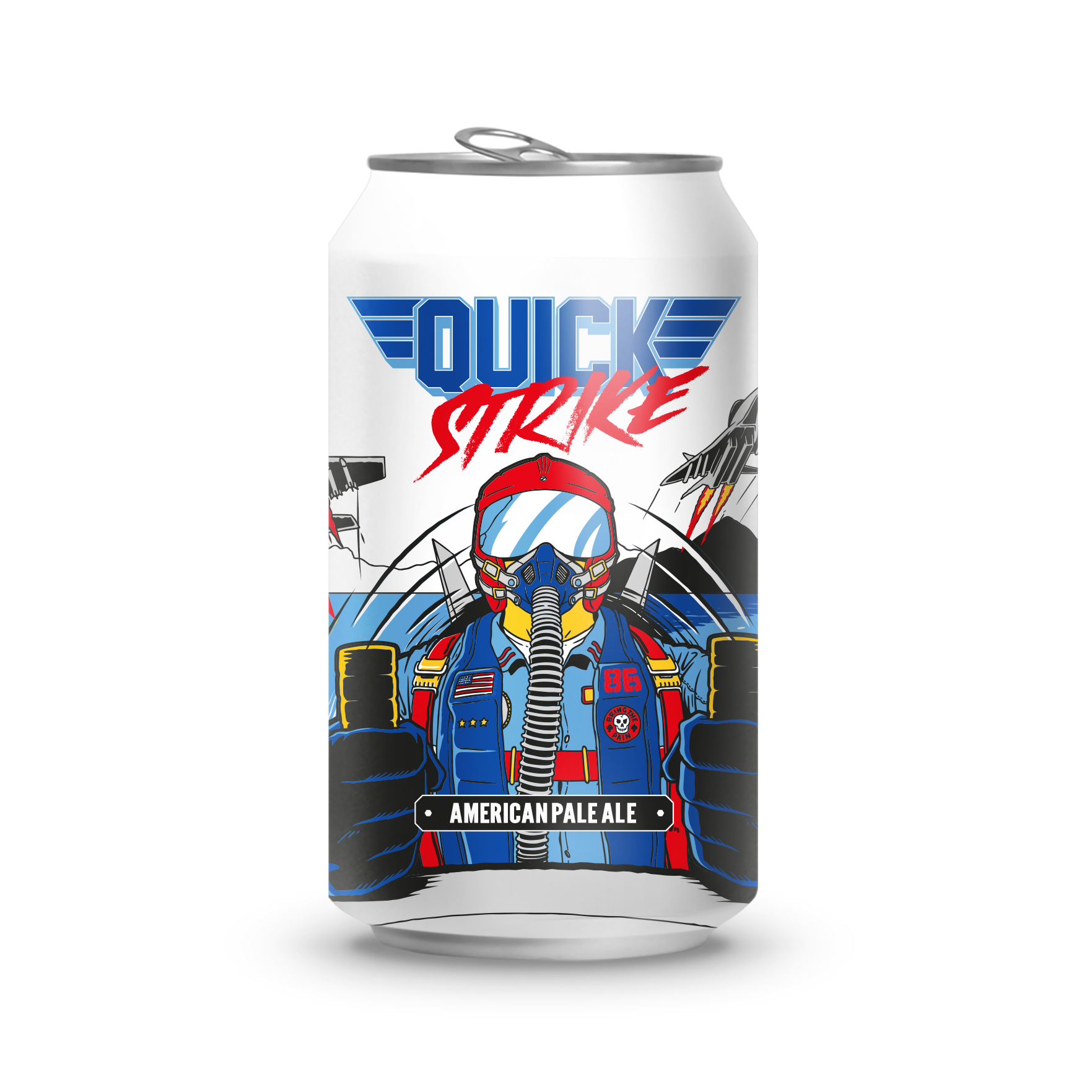 QUICK STRIKE AMERICAN PALE ALE - An APA that takes you on a wild ride full of big, brilliant mango and citrus flavours. Finishing off with a magnificently light, crisp and dry finish.Quick Strike APA take its inspiration from classic video-game Afterburner and a certain film from the 80's. We could tell you, but then we'd have to kill you.The best part is we deliver to your door with the help of our friends, 10 Devonshire Place.Ingredients:Water, Barley, Hops, Yeast.Allergen warnings are in bold.Hops:Citra and Cascade 5.2% ABV / 1.7 UK UNITS