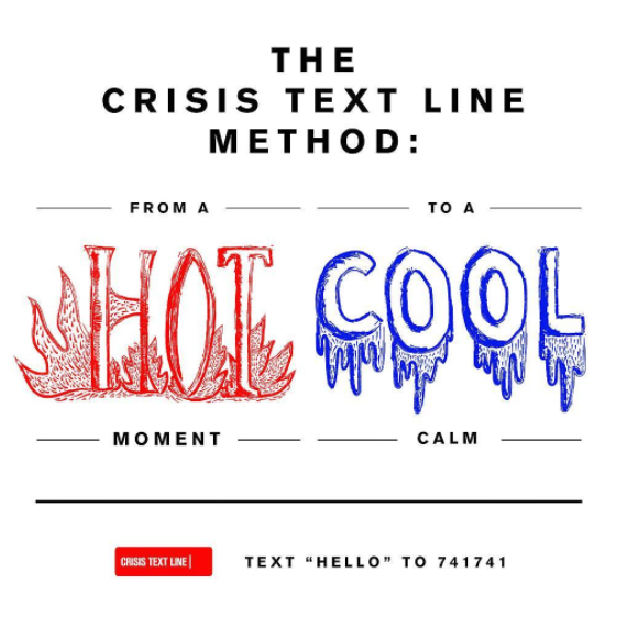"""""""The Crisis Text Line Method: From a hot moment to a cool calm."""""""