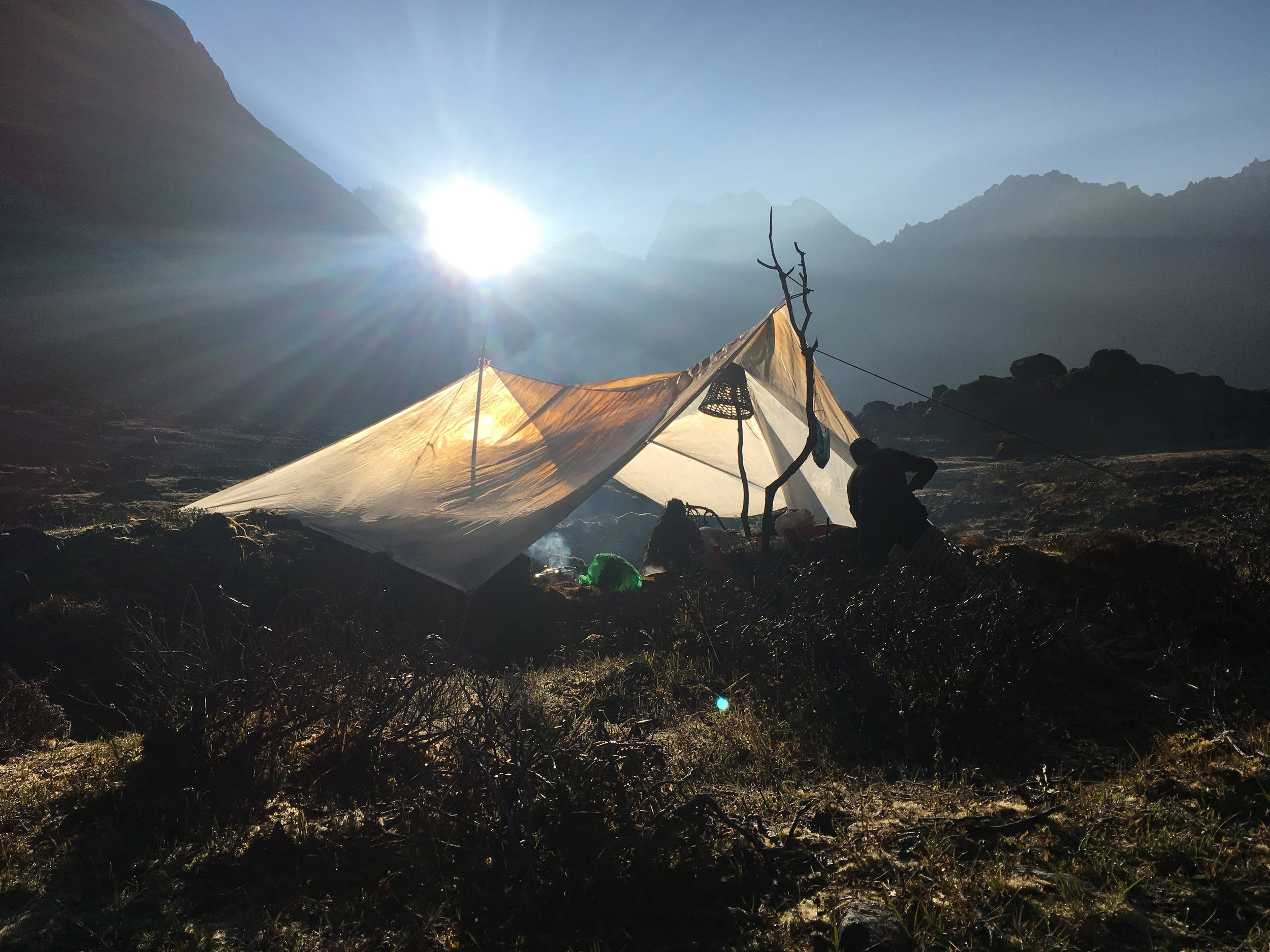 our highest camp, at 4200 meters elevation