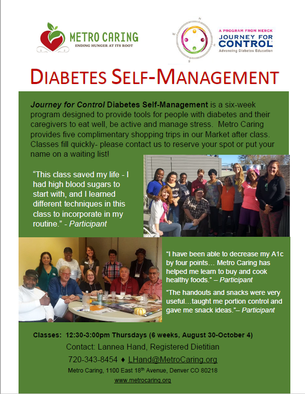 Journey for Control Diabetes Self-Management — Metro Caring