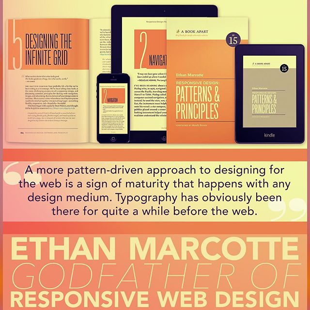 Ethan Marcotte believes a more pattern-driven approach to designing for the web is a sign of maturity. Typography plays an important role in pattern-driven design. Read more in this interview: http://ow.ly/gDa130mGKiK • #ResponsiveWebDesign #WebTypography #TypeThursdayPHL #Philadelphia #VisitPhilly #PHL #DiscoverPHL #PeopleDelphia #PhillyType #PhillyCreatives #PhillyGraphicDesigner #PhiladelphiaCalligraphers #TypeThursday #CalligraphyNewbie #GraphicDesign #GraphicDesignCommunity #GraphicDesignEd #GraphicDesignEducation #StrengthInLetters #Letterforms #TogetherWeLetter #Typography #Type #Font #GoodType #TypeGang #Typespire #TypographyInspired #TypeMatters #TypeDesign