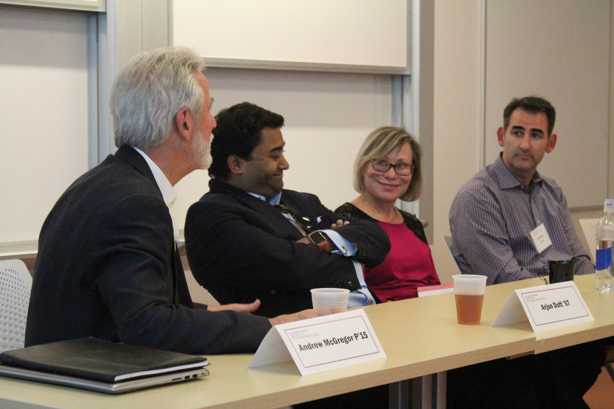 Panelists shares their entrepreneurial stories with students.