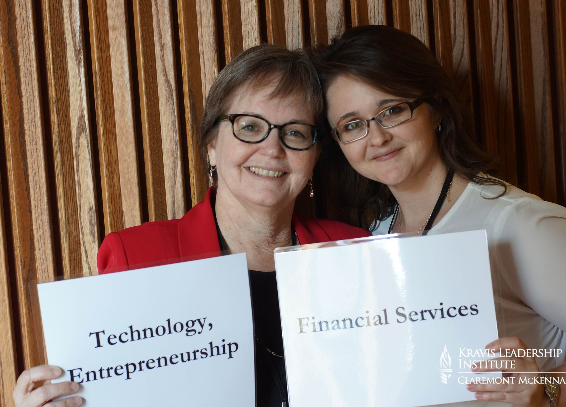 MOTHER AND DAUGHTER LEADERS:  Cheri Strelow (left) with her daughter Katrina Soelter (right) at the Women and Leadership Workshop.