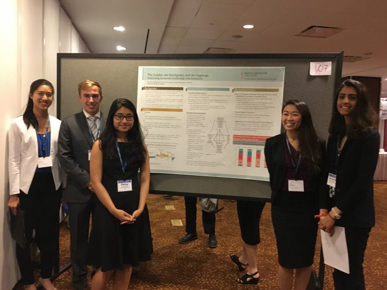FINAL SHOWCASE:  KLI students had the opportunity to present KLI undergraduate leadership research on diversity.