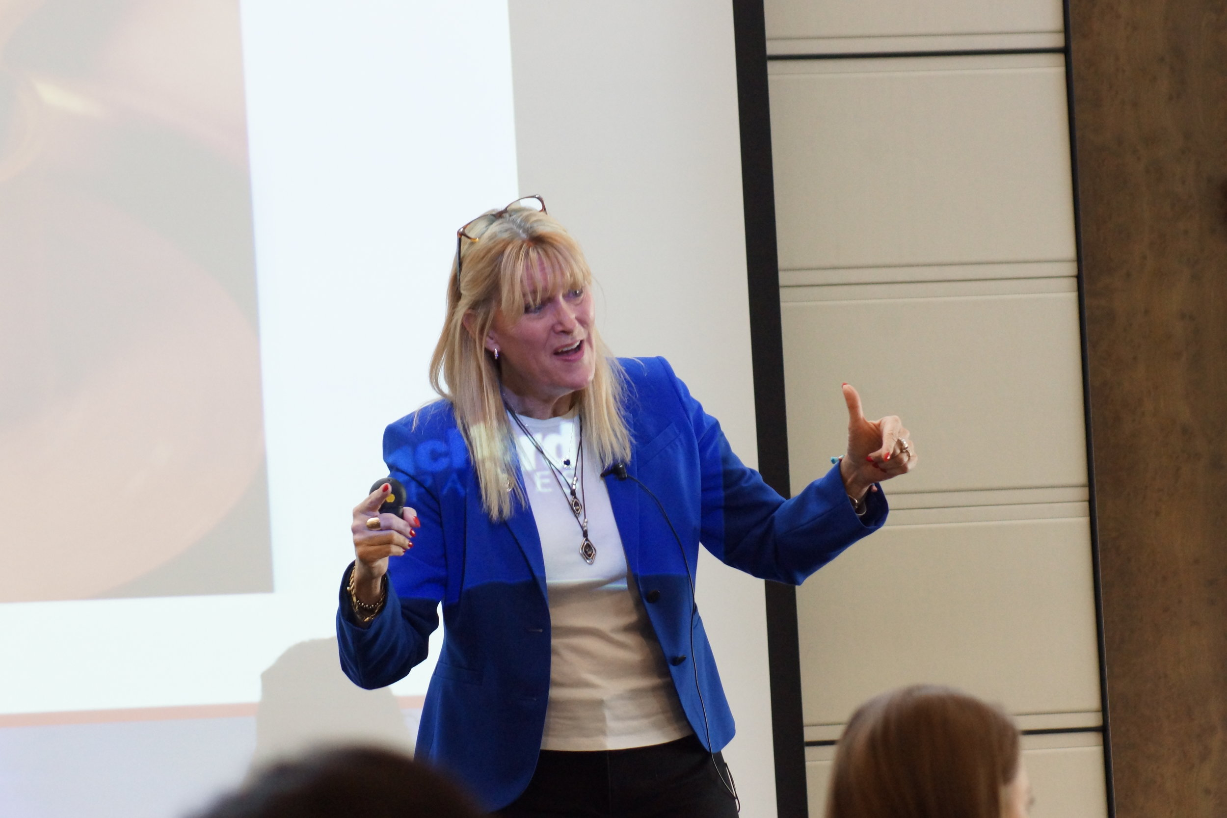 KEYNOTE ADDRESS:  Dr. Halsey pictured here presents her steps to self empowerment as a female.