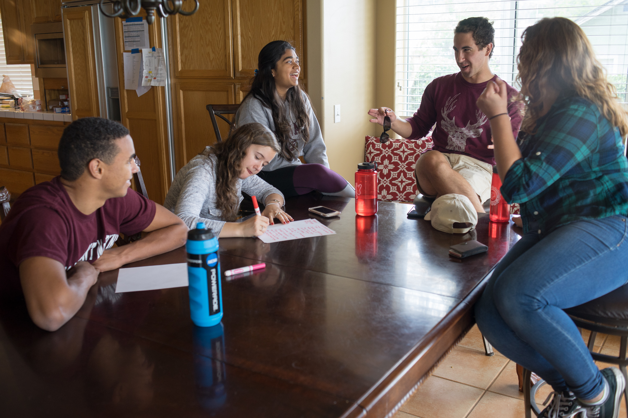 Students brainstorming ideas at the Moonshot House. Photo courtesy of Wes Edwards '18.