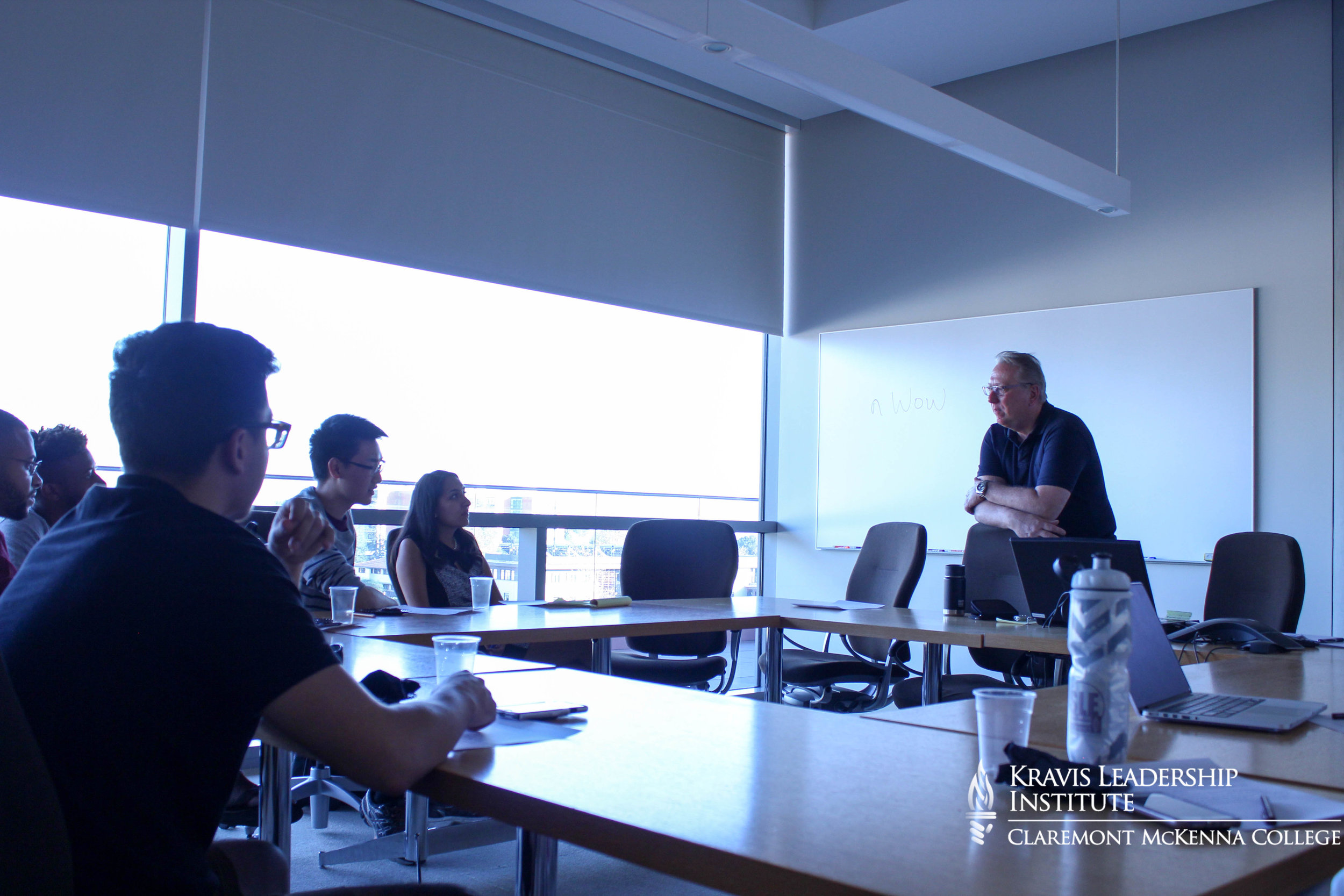 Professor David Day and workshop attendees discuss sources of power.