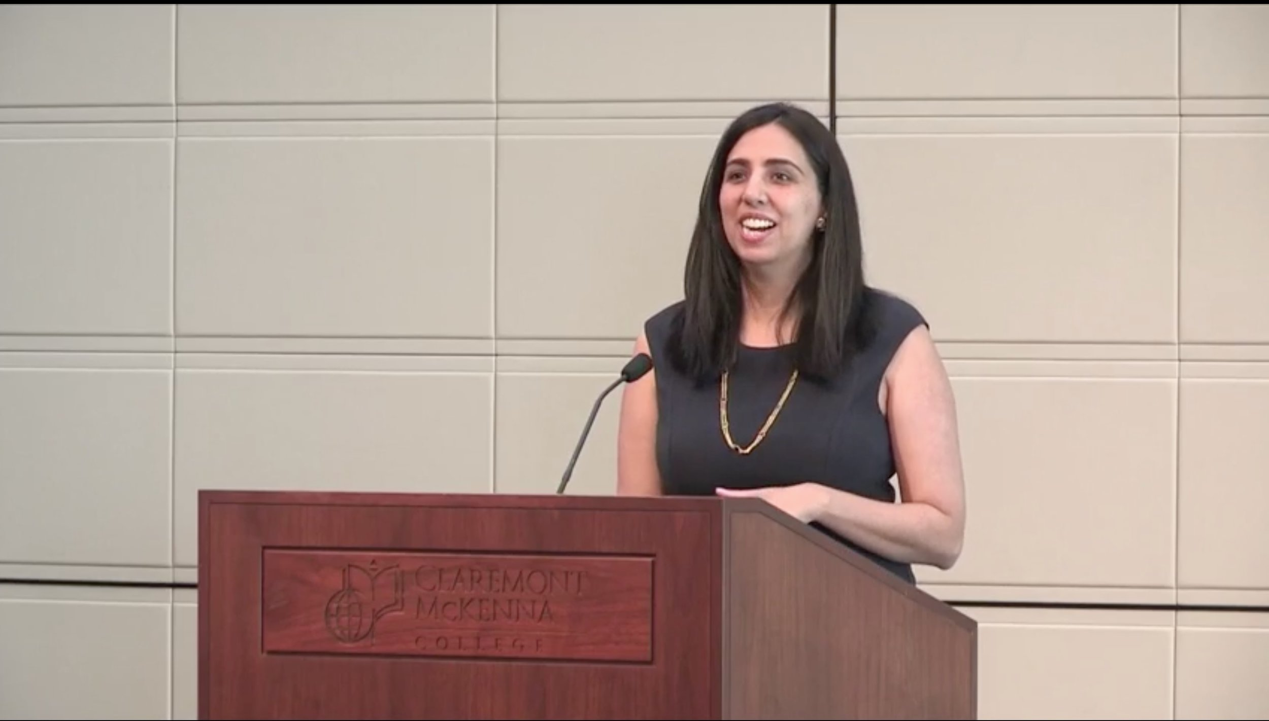 Archana Sahgal '99 speaking at the 9th Women and Leadership Conference