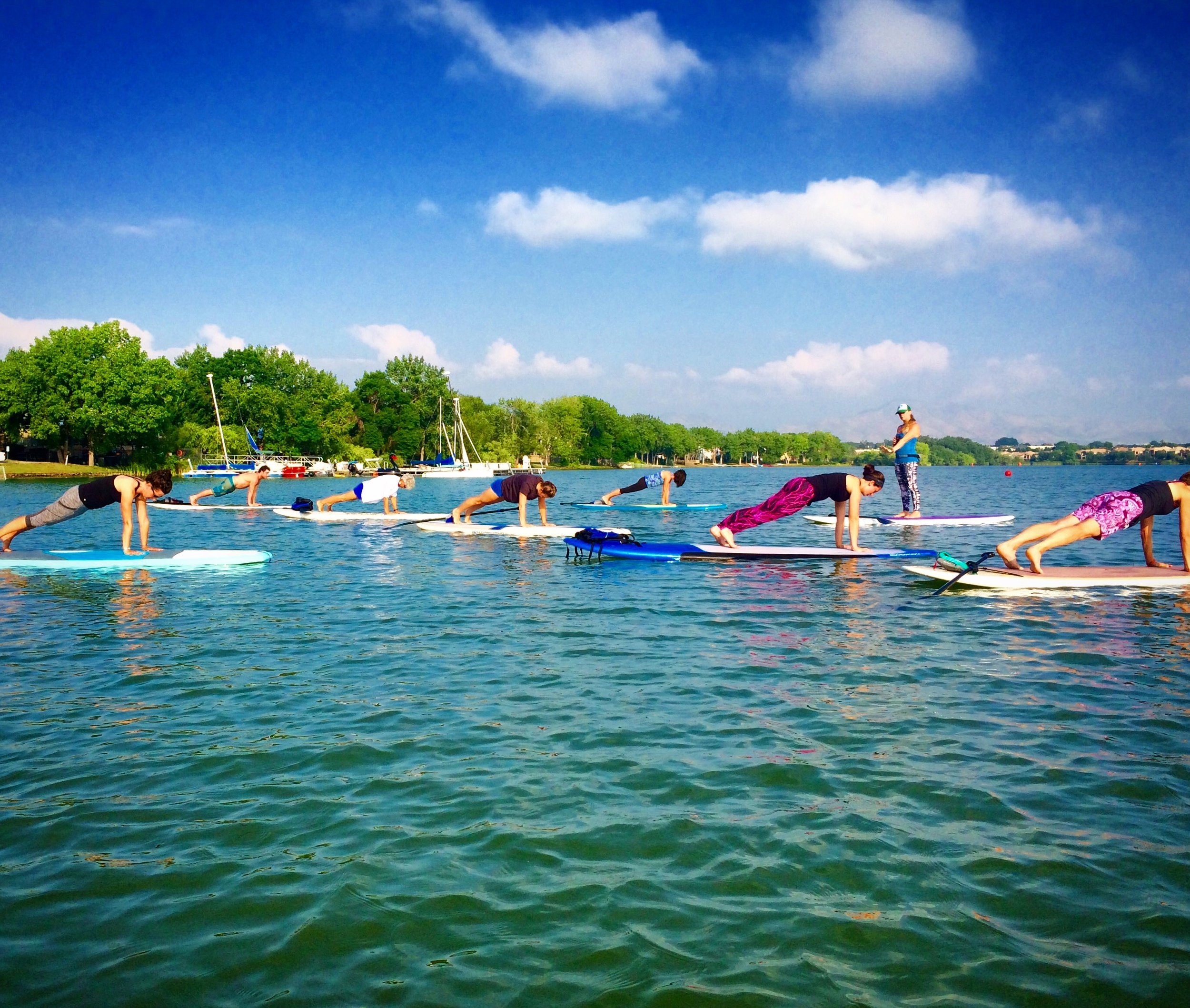 WEEKLY SUP YOGA SCHEDULE - Mondays, 8:30-10am at Boulder Reservoir, Rocky Mountain PaddleboardWednesdays, 9-10:30am at Cherry Creek Reservoir, Rocky Mountain PaddleboardThursdays, 6-7pm at Grant Ranch, Altitude PaddleboardsSaturdays, 8:30-10am at Boulder Reservoir, Rocky Mountain PaddleboardSundays, 9-10:30am at Cherry Creek Reservoir, Rocky Mountain Paddleboard