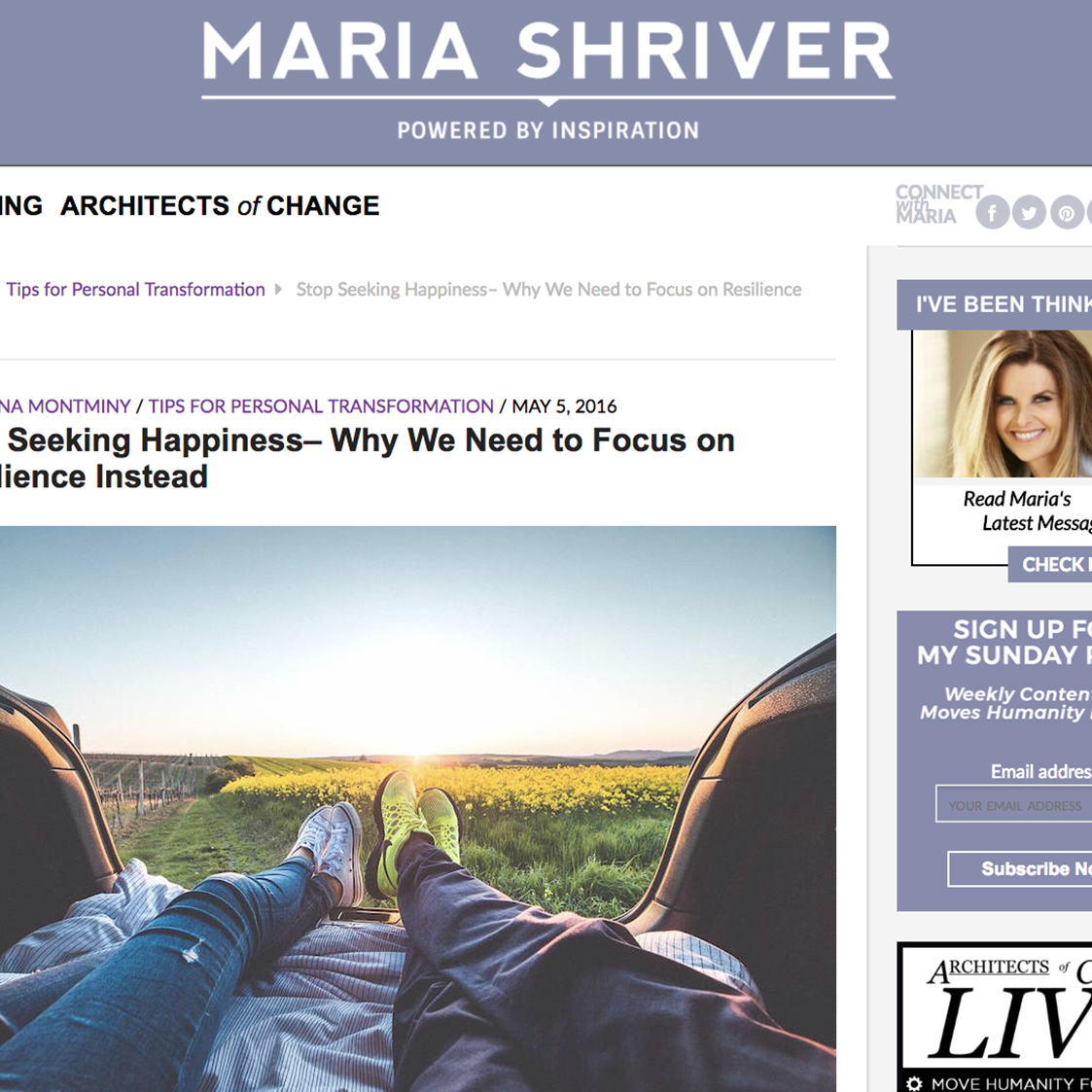 "MARIA SHRIVER ""ARCHITECTS OF CHANGE"""